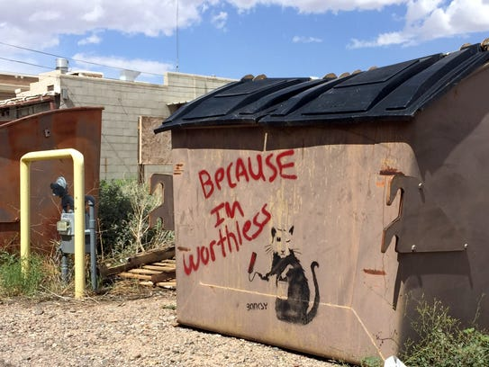 Banksy may have struck the town of Deming, New Mexioco.