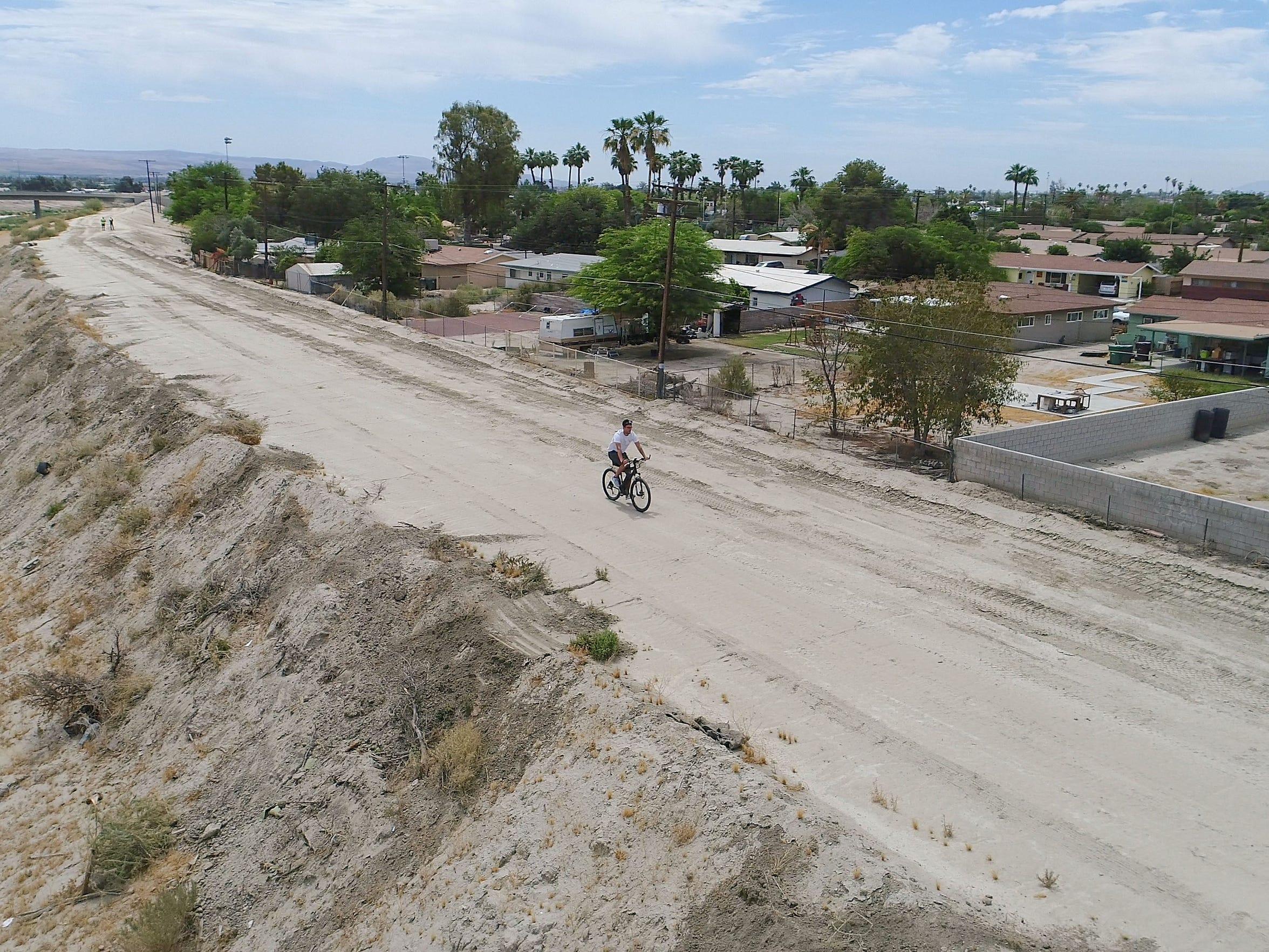 The CV Link will eventually run along an Indio neighborhood between Jackson and Monroe Streets.