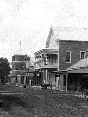 Littell Opera House can be seen in this photo on Main Street in downtown Opelousas, taken in the 1890s.