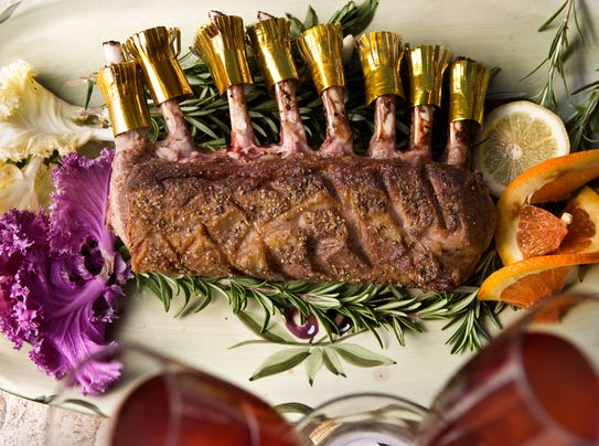 Rack of Lamb With Mustard-Thyme Crust