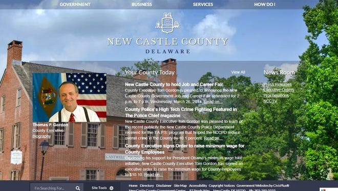 An image of the county's new website that will become active later this week.
