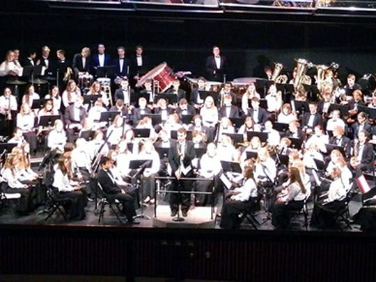 The Plymouth School District community is invited to the district's musical school spring concerts. This is a picture of the Plymouth High School band, which will present its spring concert at 7:30 p.m. Monday, May 14 in the school auditorium.