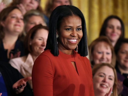 First lady Michelle Obama speaks at the 2017 School
