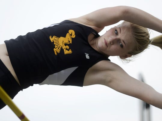 Delone Catholic's Grace Riedel is the top seed in the District 3 Class AA girls' pole vault. (FILE -- GAMETIMEPA.COM)