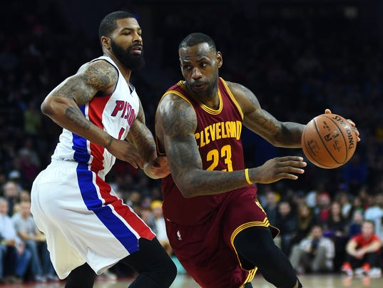 USP NBA: CLEVELAND CAVALIERS AT DETROIT PISTONS S BKN
