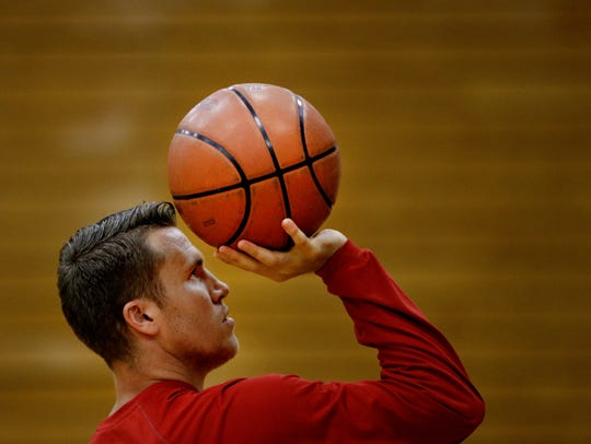 Former IU basketball player Jordan Hulls guides camp