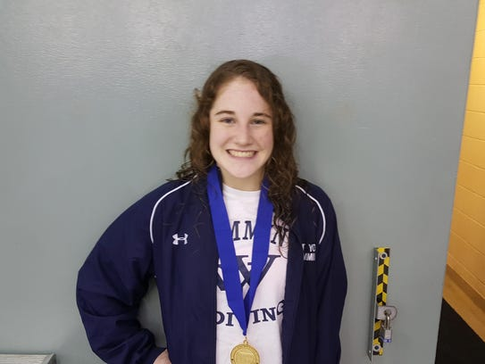 West York's Erica Sarver won the girls' title at the