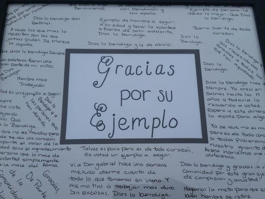 Bravo y Garcia enmarcaron los mensajes que la comunidad