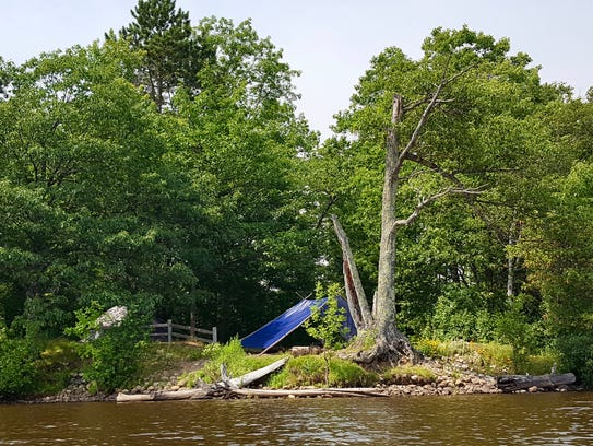 Rustic campsites dot the Turtle-Flambeau Flowage.