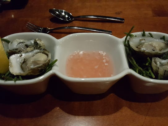 Oysters are part of of a price-fixed meal.