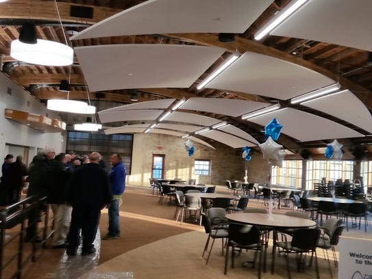 The dining area of the new senior and community center