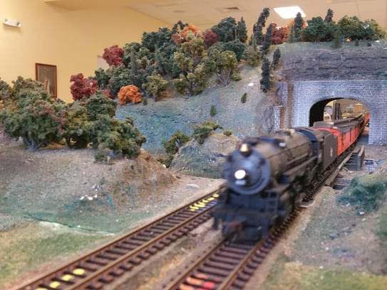 The trains will be on display at McKee Garden April