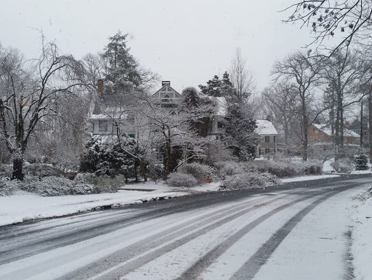 Plainfield during March 21's storm.