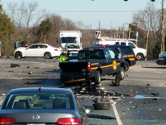 crash involving six vehicles closed the intersection. Cars Review. Best American Auto & Cars Review