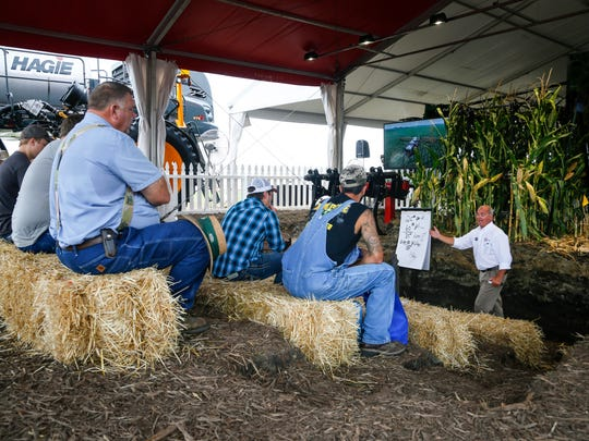 Farmers and industry leaders from around the world gather in Boone for the Farm Progress Show Tuesday, Aug. 30, 2016.