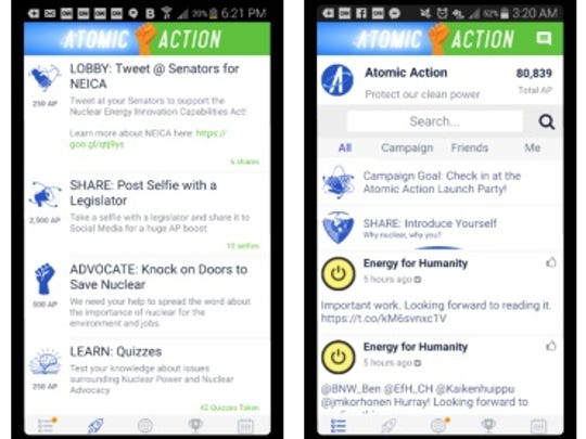 Generation Atomic developed a smart phone application to make it easy for people to learn about issues facing nuclear power and become civically engaged.