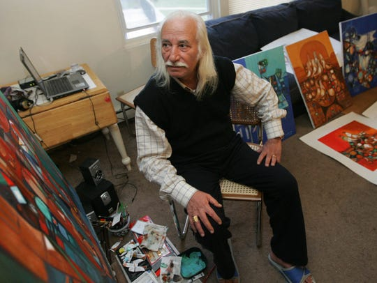 Artist Amer Saleh fled his native Iraq and re-settled