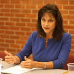 Monica Wehby talks with the Statesman Journal Editorial Board on Oct. 18, 2014.