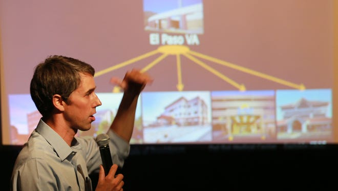 U.S. Rep. Beto O'Rourke addressed veterans at the Transmountain EPCC campus.