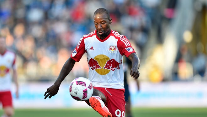 New York Red Bulls and forward Bradley Wright-Phillips (99) will play several big home games this season.