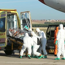 A spokeswoman for a Madrid hospital says a Spanish missionary priest who was evacuated from Liberia last week after testing positive for Ebola has died.