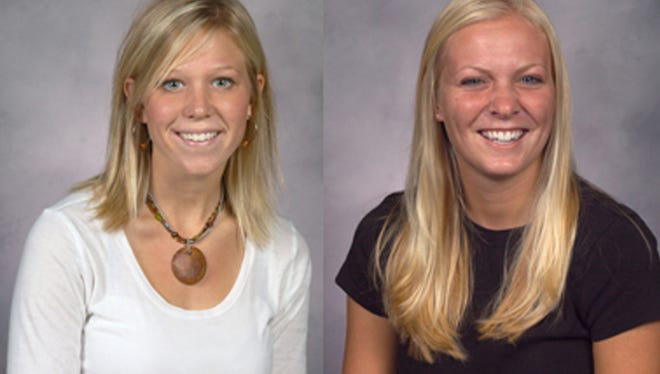 An April 26, 2006, van crash killed Taylor University student Laura VanRyn (left) and put fellow Taylor student Whitney Cerak in a coma. Due to a mix-up, their identities were switched, leading VanRyn's family to believe the comatose Cerak was their family member.