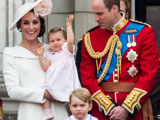 Princess Charlotte made her first appearince on the