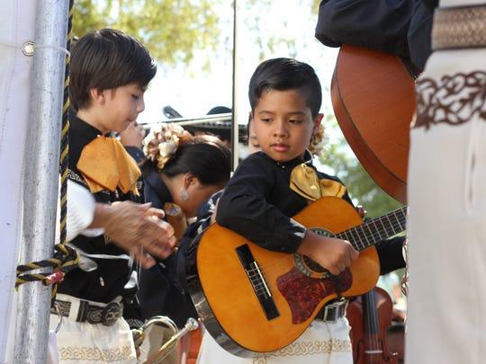 Julian Laboran, a musician at Mariachi Juvenil de Mi