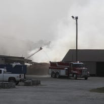 Smoke from a mulch fire in Anderson County