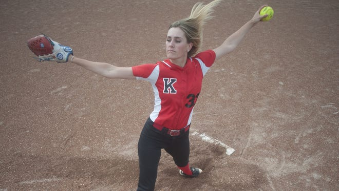 Kingsway junior Grace Fagan is the 2017 Courier-Post Softball Pitcher of the Year.