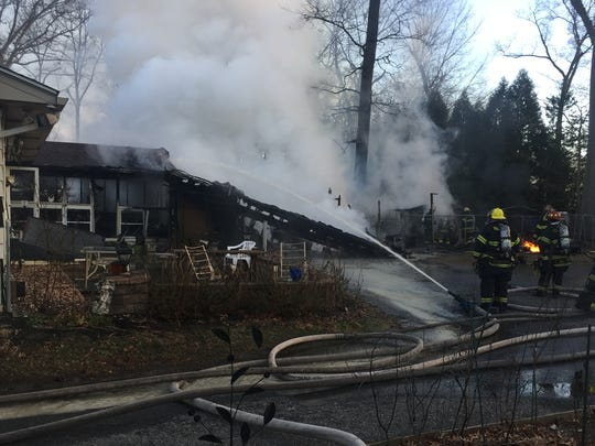 Vineland firefighters battled a fire Monday at house