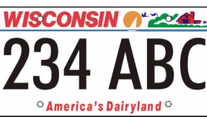 """Would slogans like """"Forward"""" be more appropriate than the current logo """"America's Dairyland"""" on the state's license plates?"""
