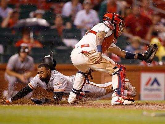 USP MLB: SAN FRANCISCO GIANTS AT ST. LOUIS CARDINA S BBN STL SF USA MO