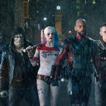"From left, Jay Hernandez as Diablo, Jai Courtney as Boomerang, Adewale Akinnuoye-Agbaje as Killer Croc, Margot Robbie as Harley Quinn, Will Smith as Deadshot, Joel Kinnaman as Rick Flag and Karen Fukuhara as Katana in a scene from ""Suicide Squad."""