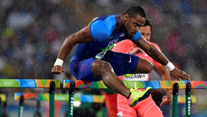 American Jeff Porter kicked off his Olympic run Monday by qualifying for Tuesday's semifinals in the 110-meter hurdles.