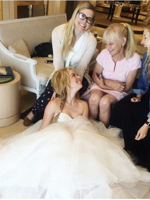 A photo from Tara Lipinski's dress fitting.