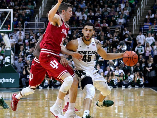 Valentine paces MSU's 88-69 rout of Indiana