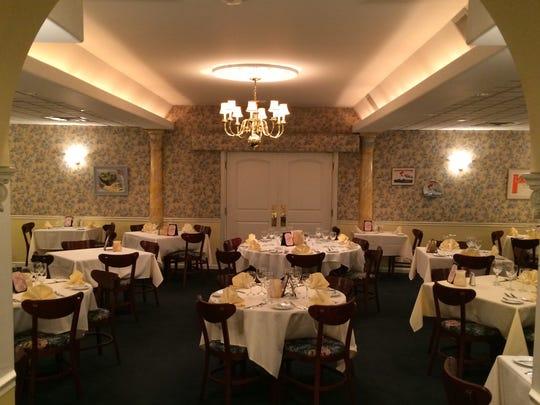 The dining room of Madeleine's Petit Paris.