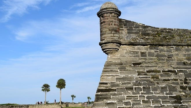 Construction of St. Augustine's Castillo de San Marcos began in 1672. The imposing Spanish fortress is the only one in existence on the North American mainland.