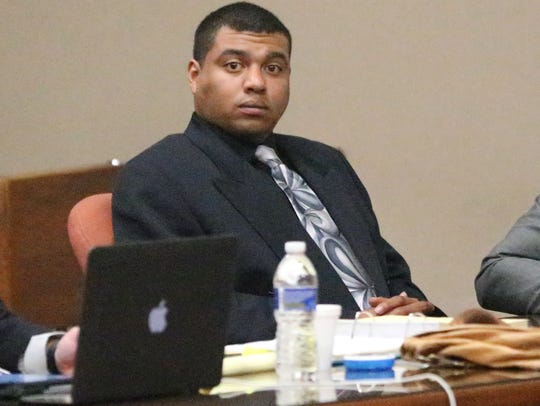 Devon Huerta-Person is shown in 384th District Court during his March trial.