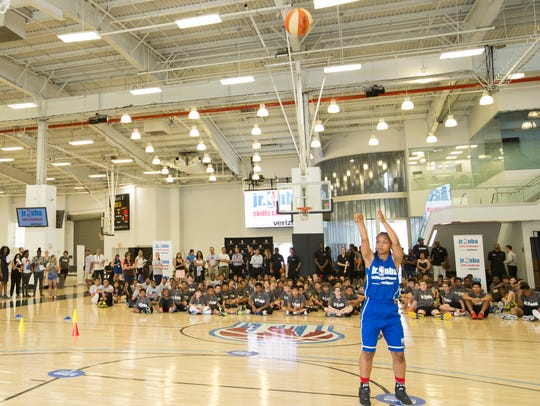 Destini Rose shoots the ball at the 2016 Jr. NBA Skills