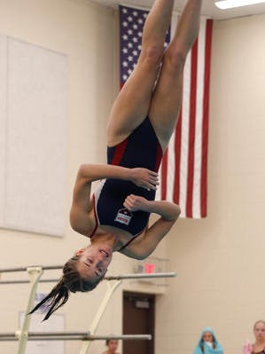 Mason's Hanna Keller has two of the top diving performances in mid-Michigan this season.