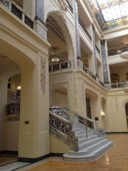 """The interior of Wilson Hall, which served as the mansion of Oliver """"Daddy"""" Warbucks in the 1982 version of """"Annie."""""""
