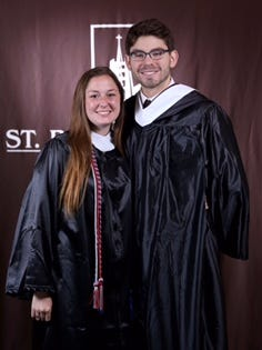 Churchville-Chili graduates Shannon Conheady and Drew Belfield were honored as St. Bonaventure's Ideal Students in 2013.