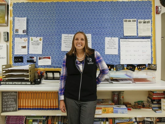 Mishicot agriscience teacher Jamie Propson poses for