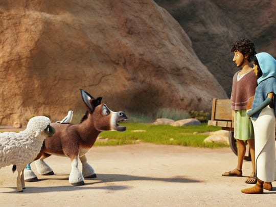 """Steven Yeun voices a donkey who finds his way to the first christmas in """"The Star."""""""