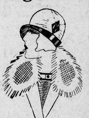 Cloche hat advertisement. 1925