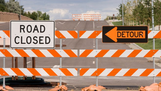 Portions of Shadow Ridge Drive will be closed on Monday.