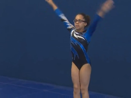11 Year Old Blind Gymnast Aims For Olympics