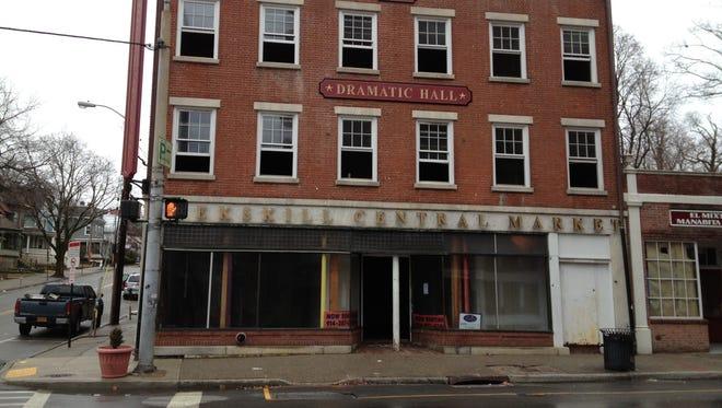 A three-alarm fire damaged the Peekskill Central Market, 900 Main St., on Sunday, March 30, 2014.